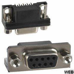 DB9 female PCB connector 91327