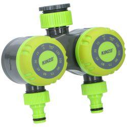 Doppio timer meccanico universale per irrigazione Kinzo ED3262