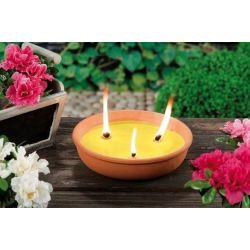 Candela alla citronella in vaso di coccio vari colori Arti Casa ED5377
