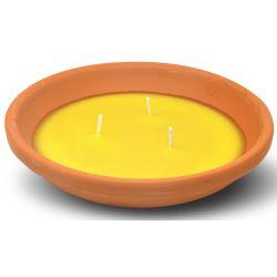 Candela alla citronella in vaso di coccio diametro 14cm Arti Casa ED5547