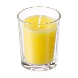 Candela alla citronella in bicchiere di vetro diametro 7.5cm Arti Casa ED5553