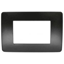 3-place black metal plate compatible with Matix EL2558