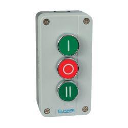 3 pulsanti con ritorno a molla  0-1-2 EL1-B339 1NO 0-1-2 Elmark EL3233