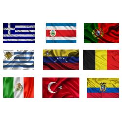 Kit 10 assorted flags - National / Military / Marine / Nautical signaling KIT10FLAGS