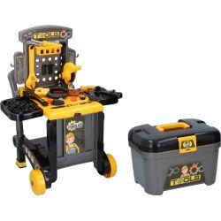Banco attrezzi da lavoro giocattolo 3in1 60 pezzi Eddy Toys ED4216