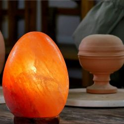 Lampada di sale dell'Hymalaya superficie liscia a forma d'uovo 2-3 kg WB2398