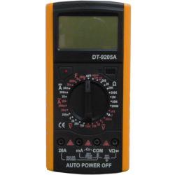 Multimetro digitale con puntali grandi DT-9205A WB2478