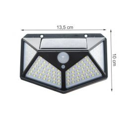 Rechargeable solar lamp with PIR / Twilight sensor 7W IP65 100 LED WB317