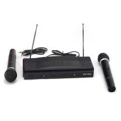 Set karaoke con 2 microfoni wireless AT-306 MIC555