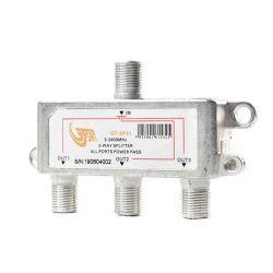 3-way 5-2400MHz splitter with GT-SAT in-line F connectors MT283