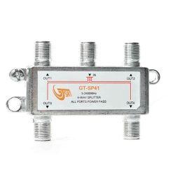 Splitter a 4 vie con connettori F in linea GT-SAT MT408