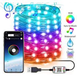 Striscia LED RGB alimentazione tramite USB 10m bluetooth Meiq-it WB757