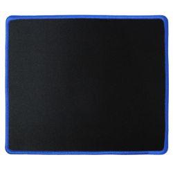 Tappetino per mouse 21x25cm nero/blu in tessuto antiscivolo P1347
