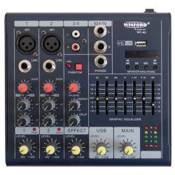 Mixer ultra slim a 4 canali con USB WF-4G SP305