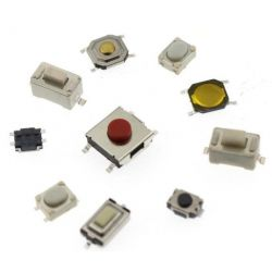 Kit 250 interruttori a pulsante tattile varie misure WB1243