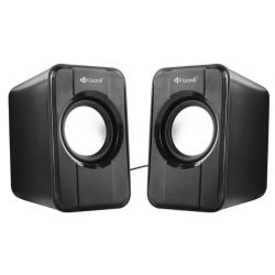 Coppia altoparlanti per PC/Smartphone/iPod/Tablet neri S-444 2x3W WB1354