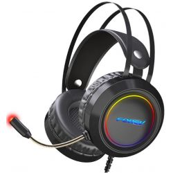 Gaming headset with virtual 7.1 audio microphone with LED lighting WB1715
