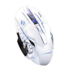 Mouse da gaming LED wireless con batteria ricaricabile incorporata bianco FV-W502 WB2260