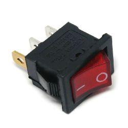 3-pole unipolar switch with light rocker - Red C1080