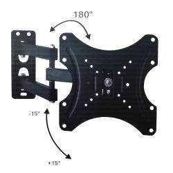 Supporto a muro per TV LED LCD 14-42'' inclinabile 3 snodi nero STAND400