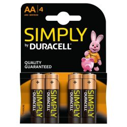 Batterie Duracell Basic tipo AA - 4 pezzi P882