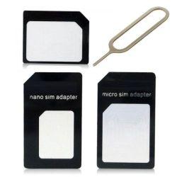 Standard Nano SIM / micro-SIM / SIM adapter - Black H115