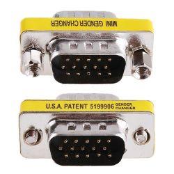 Mini Gender Changer VGA DB 15 poli HD M/M 09996