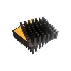 Dissipatore alluminio 43x40 mm con adesivo 03821