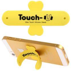 TOUCH-U - Supporto in silicone per smartphone - Giallo 92810