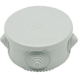 Round external junction box with cable holes - 50x50mm EL105