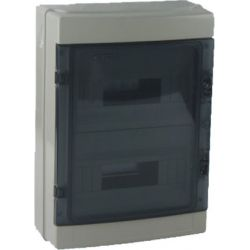Wall switchboard 24 modules with transparent door EL198