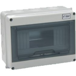Wall Switchboard 8 modules with transparent door - small EL170
