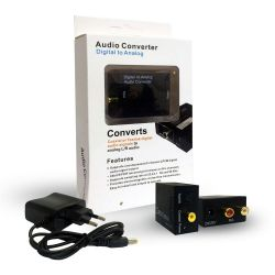Mini Convertitore Audio Digitale/Analogico con ingressi ottico/toslink e coassiale SP972