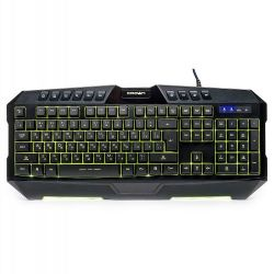 10-key multimedia gaming keyboard with 7 LED backlights CMKG-402