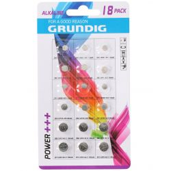 Grundig assorted button batteries - Pack of 18 pieces ED142