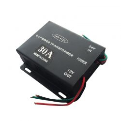 Voltage reducer from 24V to 12V 30A T198
