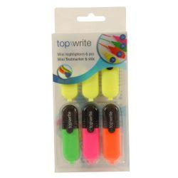 Mini evidenziatori - Confezione 6 pezzi - 4 colori ED380 Topwrite