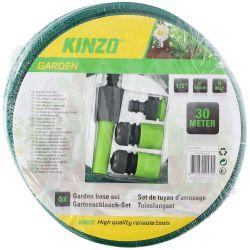 Set tubo 30m e attacchi per irrigazione Kinzo ED396