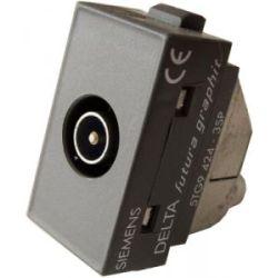 Presa TV / SAT con attenuatore passante 10dB - SIEMENS EL758 Siemens