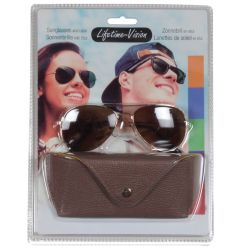 Sunglasses with Lifetime Vision case - brown ED331