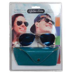 Sunglasses with Lifetime Vision case - petrol blue ED337
