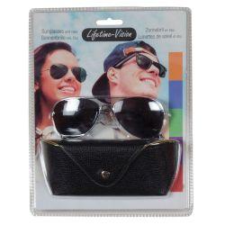 Sunglasses with Lifetime Vision case - black ED567