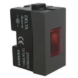 Portalampade con indicatore Rosso - SIEMENS EL172 Siemens