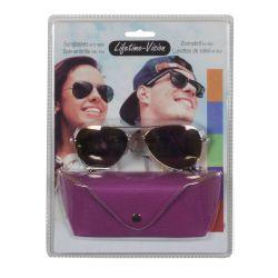 Sunglasses with Lifetime Vision case - fuchsia ED207