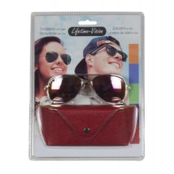Sunglasses with Lifetime Vision case - red ED313