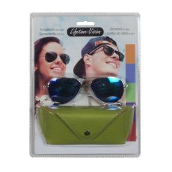 Sunglasses with Lifetime Vision case - green ED459