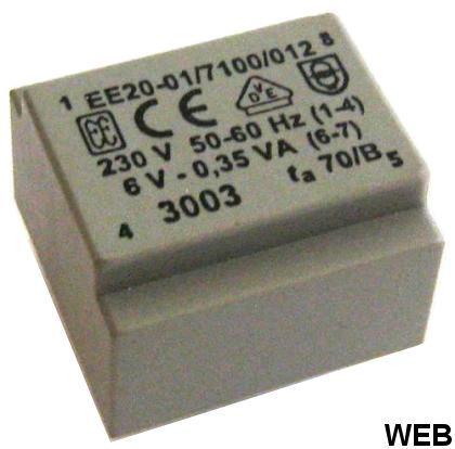 Transformer for CS 0-230VAC 6V 0.35VA 20034