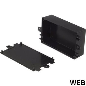Plastic container 38 x 65 x 22 mm Black ABS RND 455-00080 RND Components