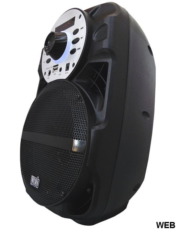 80W amplified loudspeaker max with battery - bluetooth - SD / USB - radio A-06D