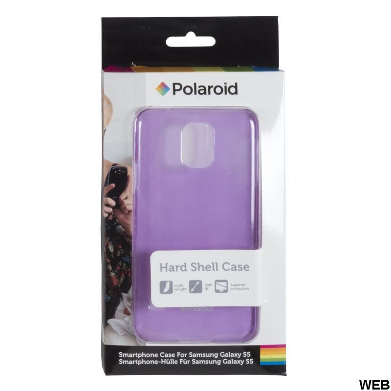Purple transparent back cover for Samsung Galaxy S5 Polaroid MOB506 Polaroid